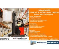 Magazynier / Operator Wózka Widłowego - Mszczonów
